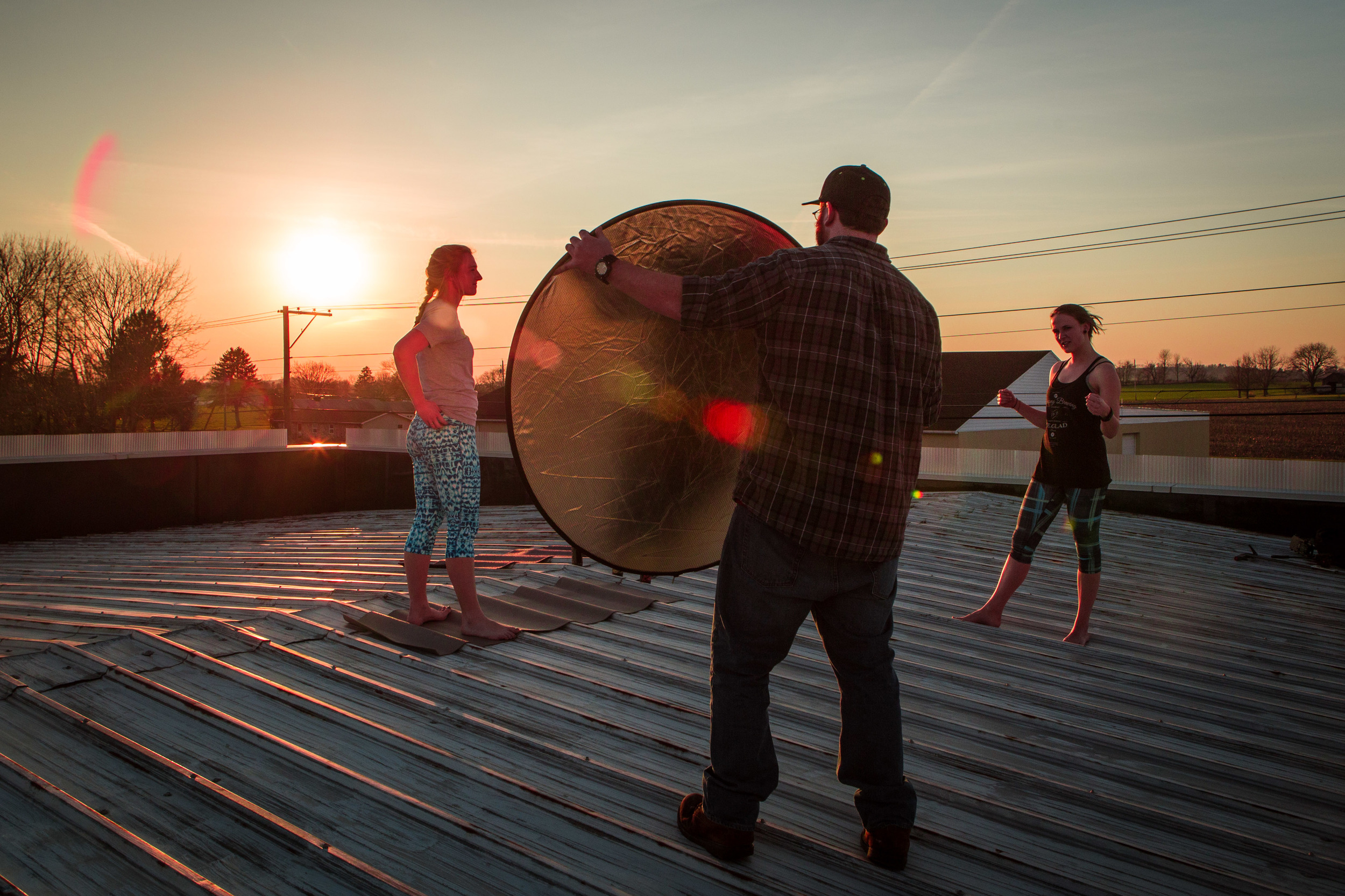 Rooftop Yoga/Beer scene for the Saucony Rule Yourself Video