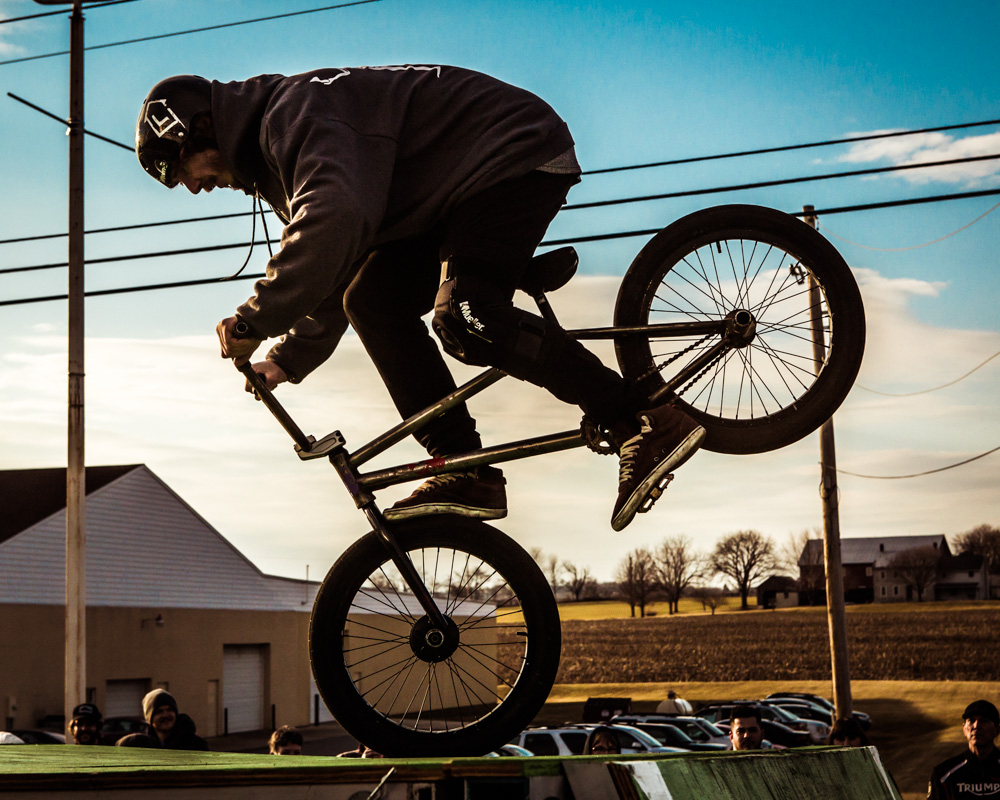 Dialed Action Sports BMX rider at the Saucony Creek Brewery's Grand Opening of their Gastropub!