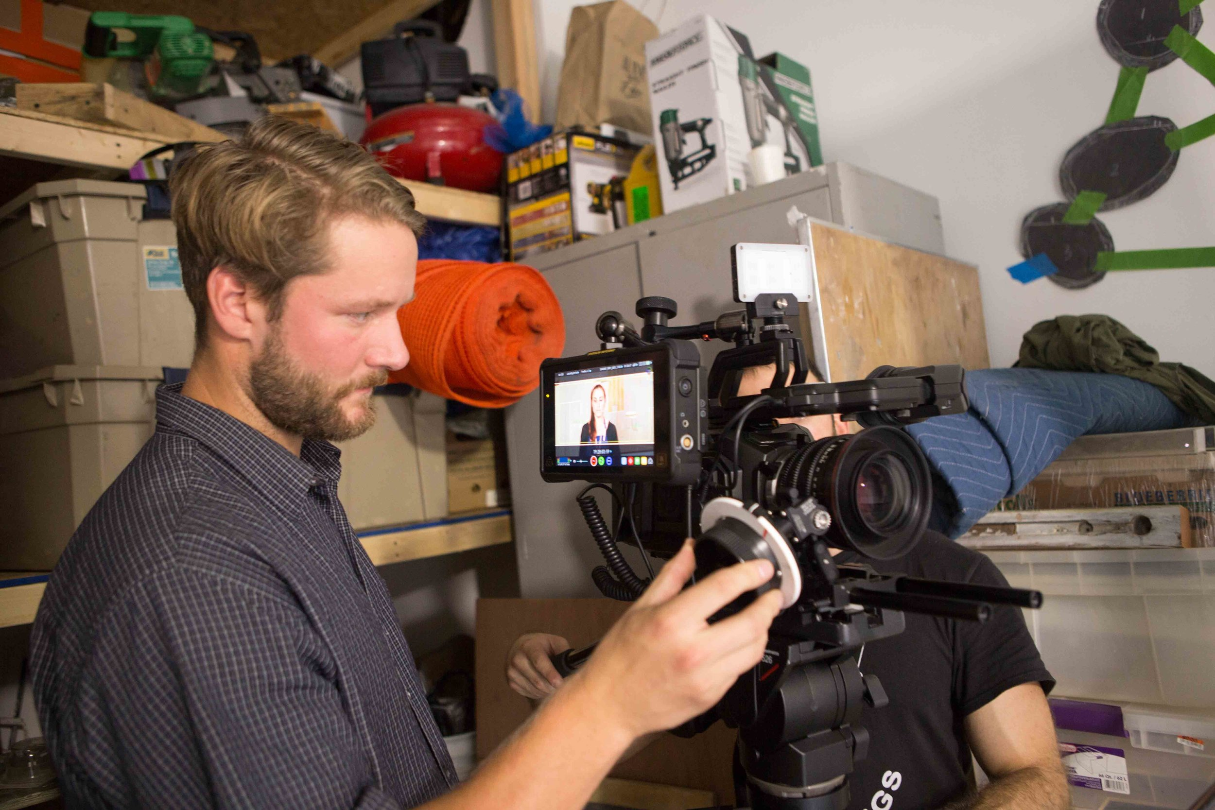 First A.C., Zack Camburn, getting his focus marks and monitoring with our Atomos Inferno.