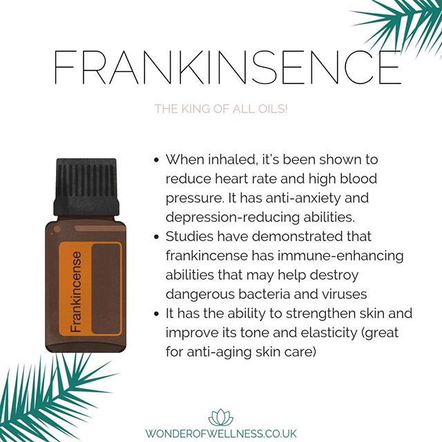 Ah, Frankincense... This Oil can do it all! If in doubt use Frankincense. It is great for all things Cellular so basically everything as it all involves cells. It is a bit like a super booster so whatever Oil you put it with it's going to enhance the qualities of that Oil.⠀⠀⠀⠀⠀⠀⠀⠀⠀ ⠀⠀⠀⠀⠀⠀⠀⠀⠀ We have one drop every night under our tongue and won't go without!
