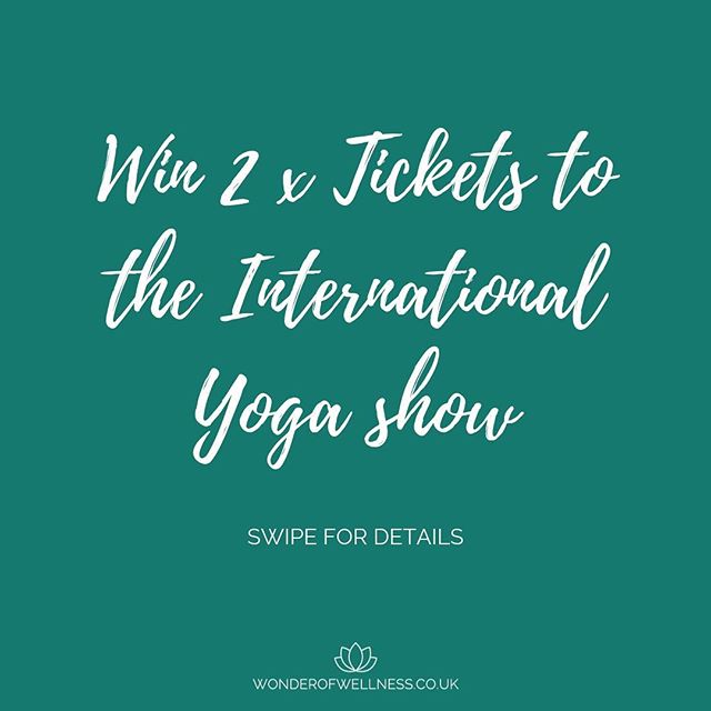 We'll be at Holistic International Festival of Yoga in Manchester last weekend in July, join us by entering our competition to win two free tickets worth £140.  All you have to do is share this post as your Instagram story and make sure you're following us.  Winners will be announced this Sunday 7th of July, best of luck all, get sharing!!