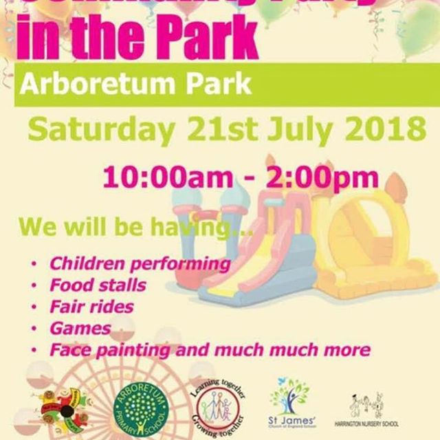 Who's Ready For Some Fun In The Sun?  Join Us At Arboretum Park, Derby On Saturday 21st (10am - 2pm) For Games, Face Painting, Fair Rides, Food Stalls, Children Performance & So Much More ... #derby #derbyshire #schools #school #kids #children #fun #sun #partyinthepark