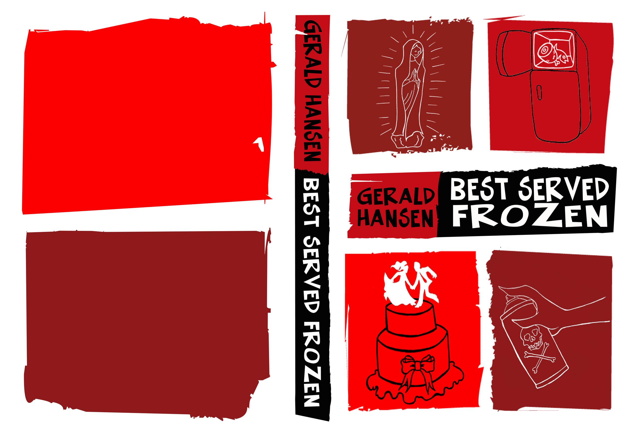 """Best Served Frozen"" Book Cover Design"