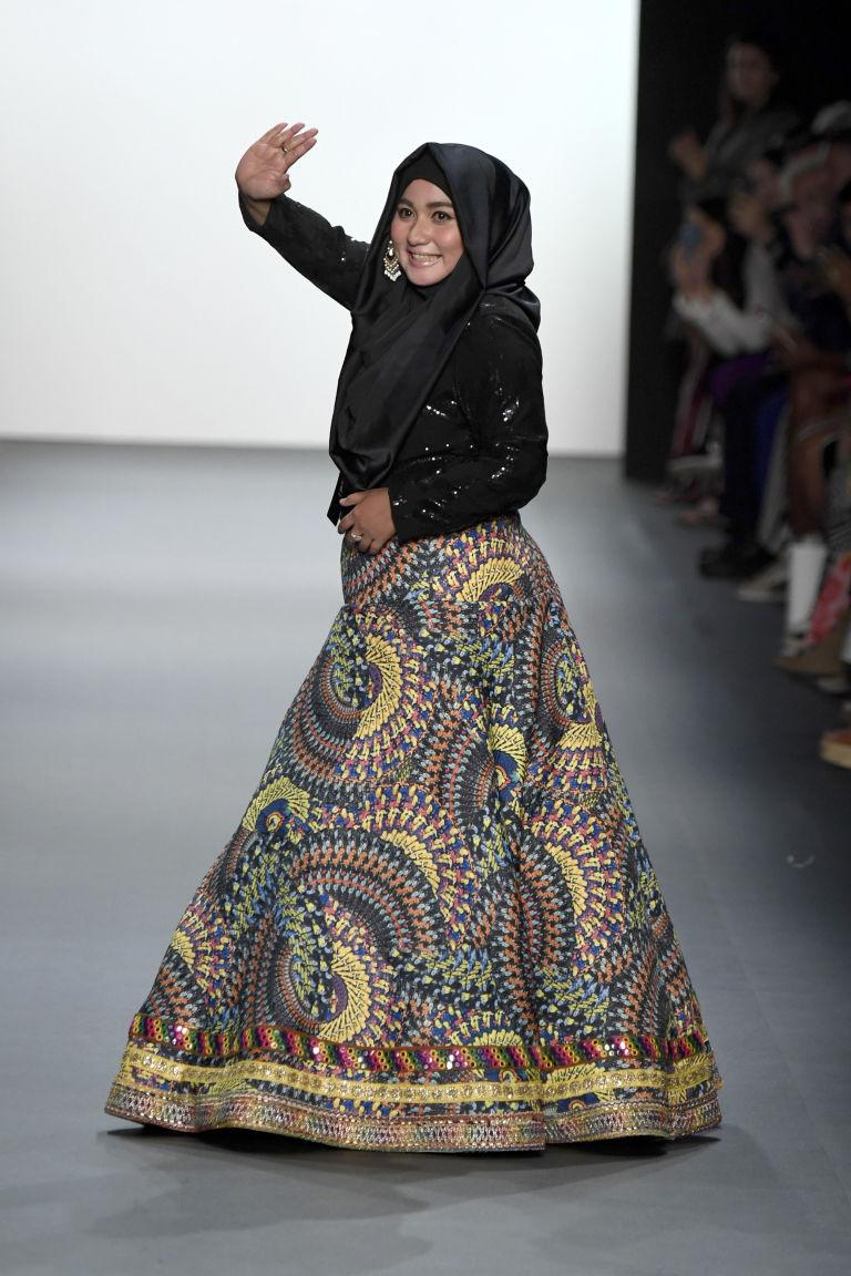 Designer Anniesa Hasibuan takes a bow.