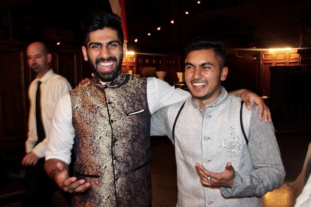 Mustafa Malik and Ahmed Syed prove that vests are best in Pakistani attire with eye-catching metallic embroidery.