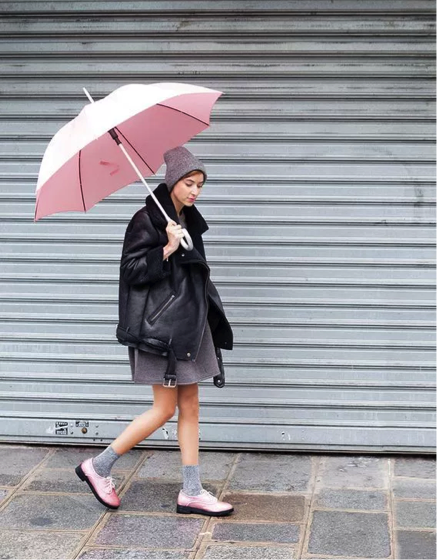 Add a pop of color with an umbrella