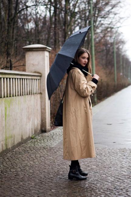 Long raincoats can add an elegant feel to any look