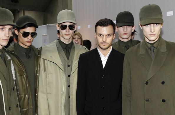 Antwerp  -trained designer Kris Van Assche at his show for Dior Homme ( image via  zimbio  )