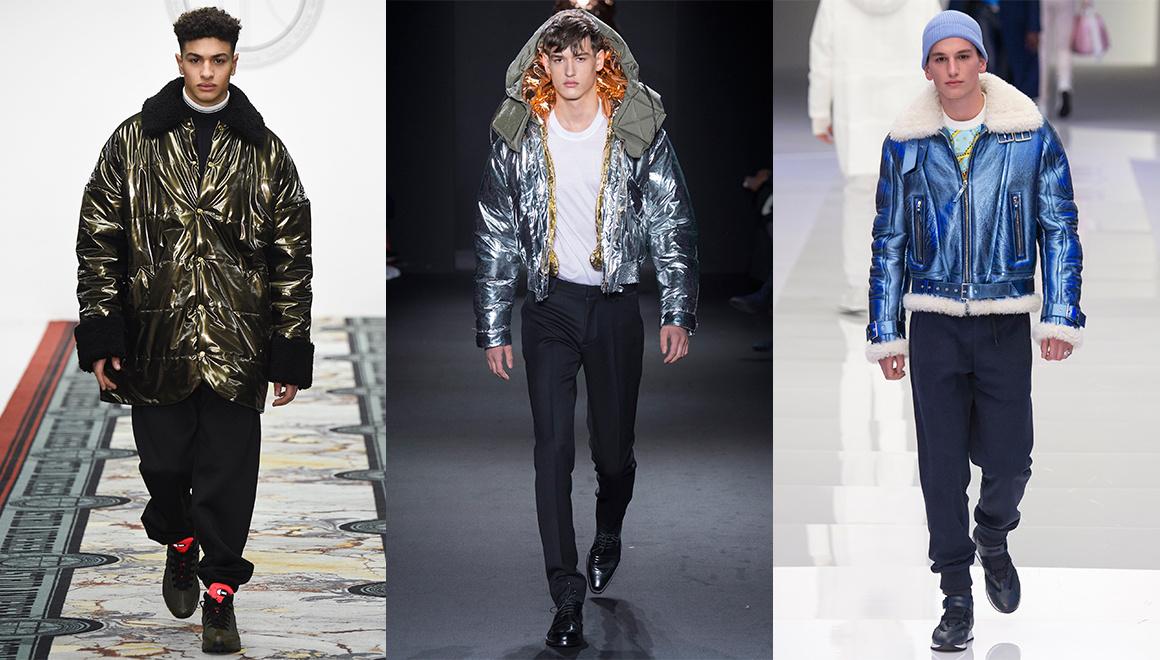 Left to right: Astrid Andersen, Calvin Klein Collection, Versace (Image via  Vogue )
