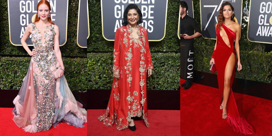 From Left to Right: Meher Tatna, Blanca Blanco, and Barbara Meier. (Images via Vogue and E!)