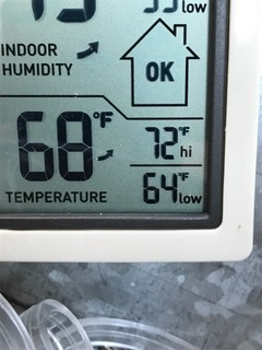 It may be 19 degrees outside, but it's averaging 68 degrees in the greenhouse and even warmer in the sun! Perfect temperatures to start our tomato and pepper seeds!