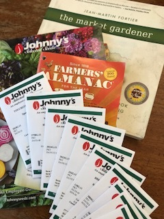 ...as the first of my seed orders arrives! High Mowing, Seed Savers, and Hudson Valley Seed have received the remainder of my orders this year. I have to limit myself to just four vendors, or I'd spend all winter with my nose in seed catalogs and no orders placed!