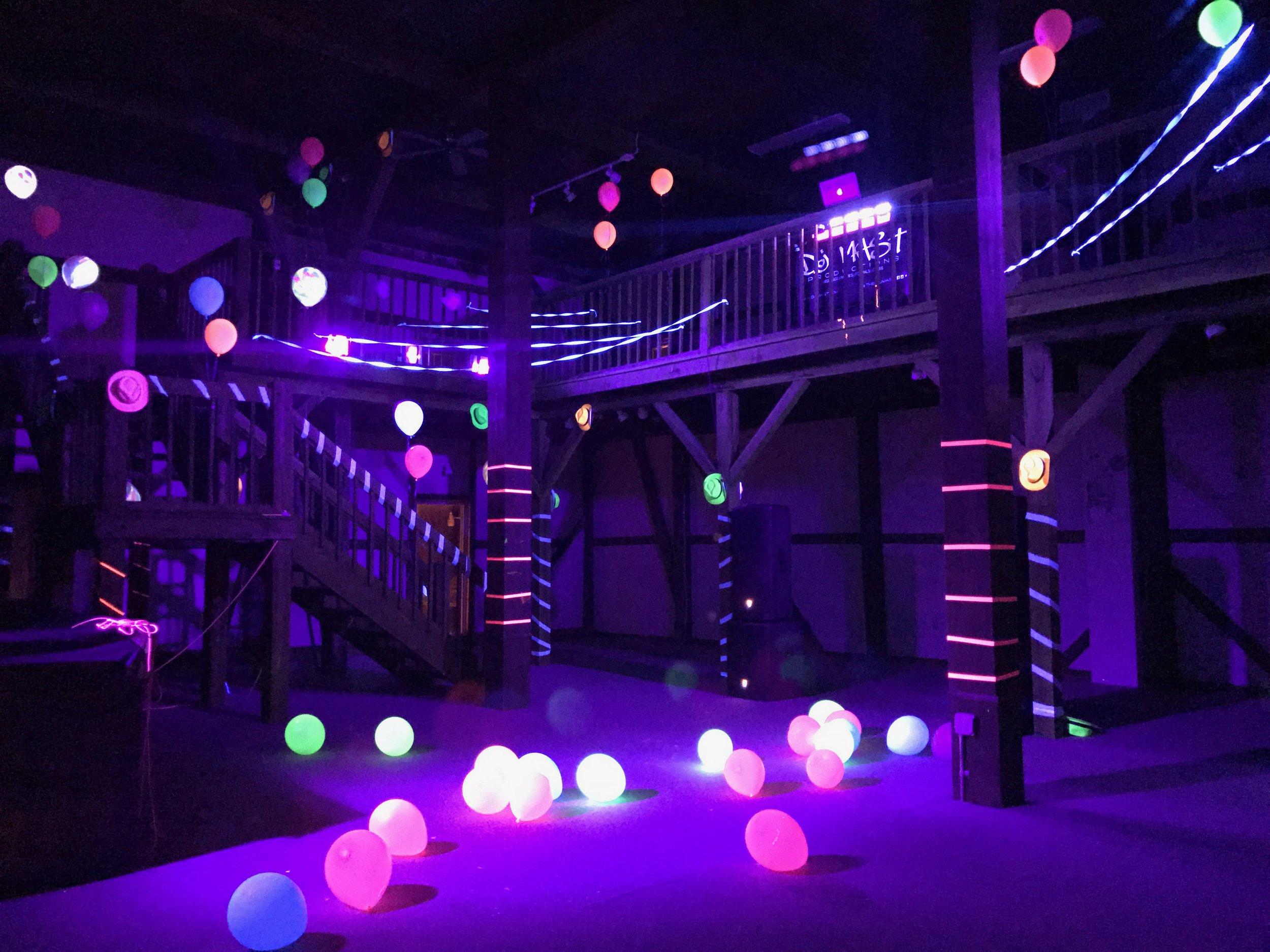 "Ultraviolet ""Black Light"" Parties"