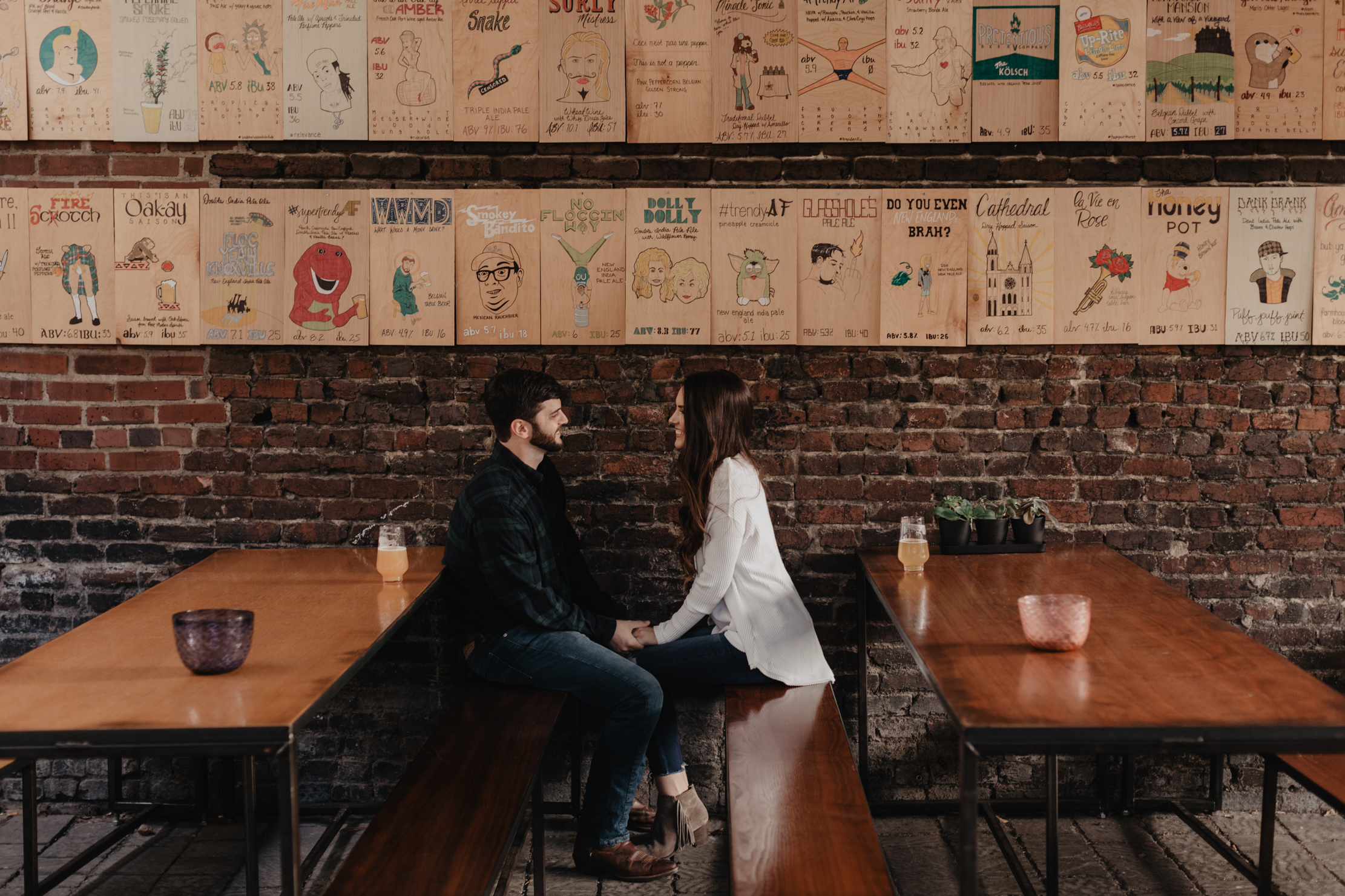 Pretentious Beer Company Engagement | Knoxville Wedding Photogra
