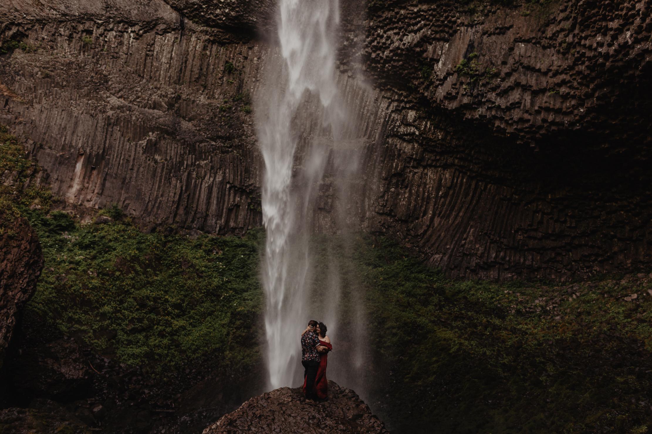 Latourell Falls | Oregon Elopement | Adventure Wedding Photograp