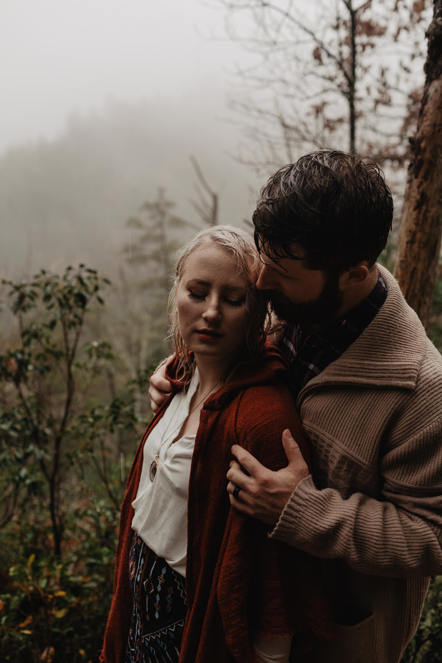 Spruce Flats Falls Engagement | Smoky Mountains Wedding Photogra
