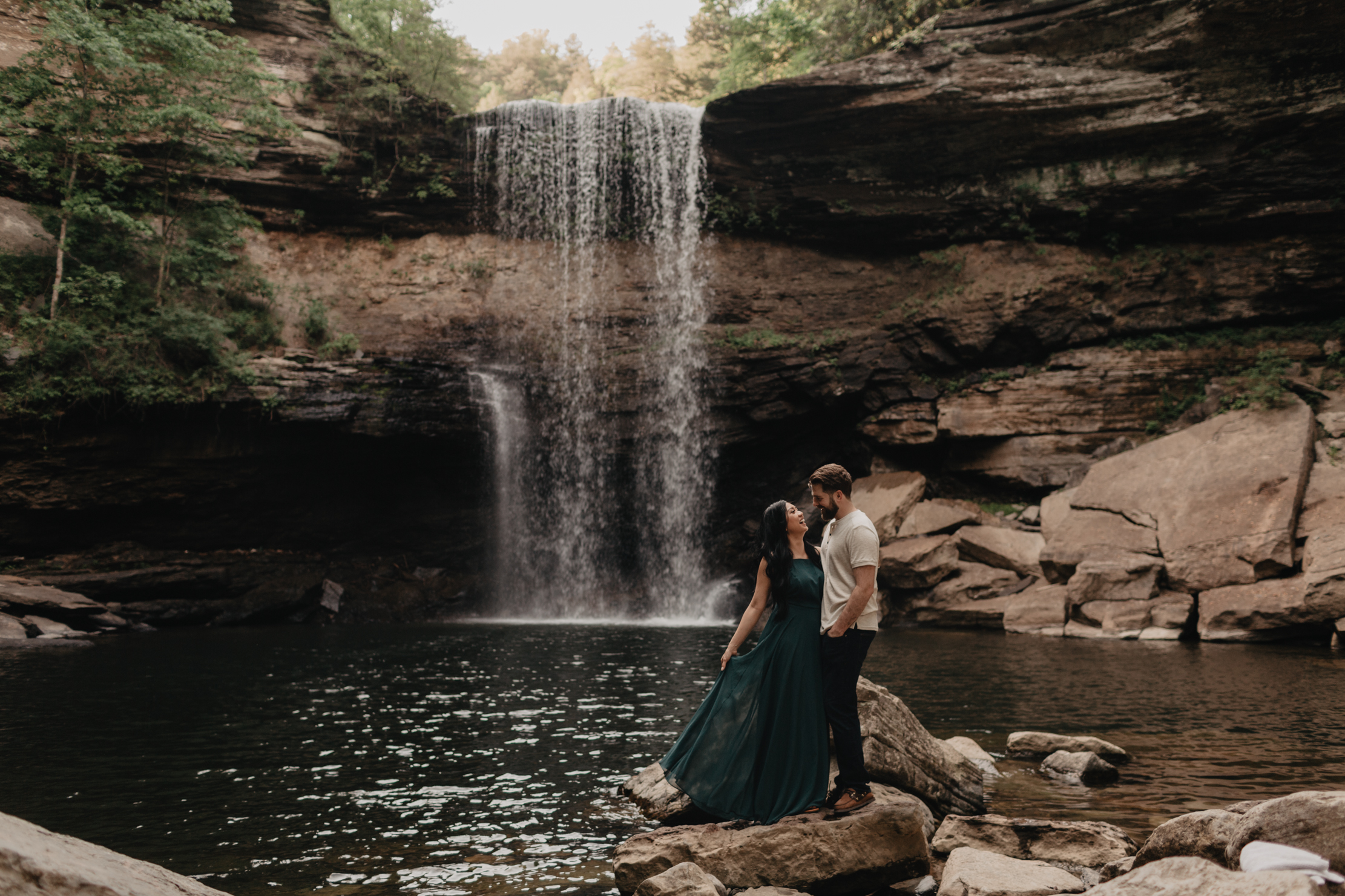 Greeter Falls Engagement | Knoxville Wedding Photographer