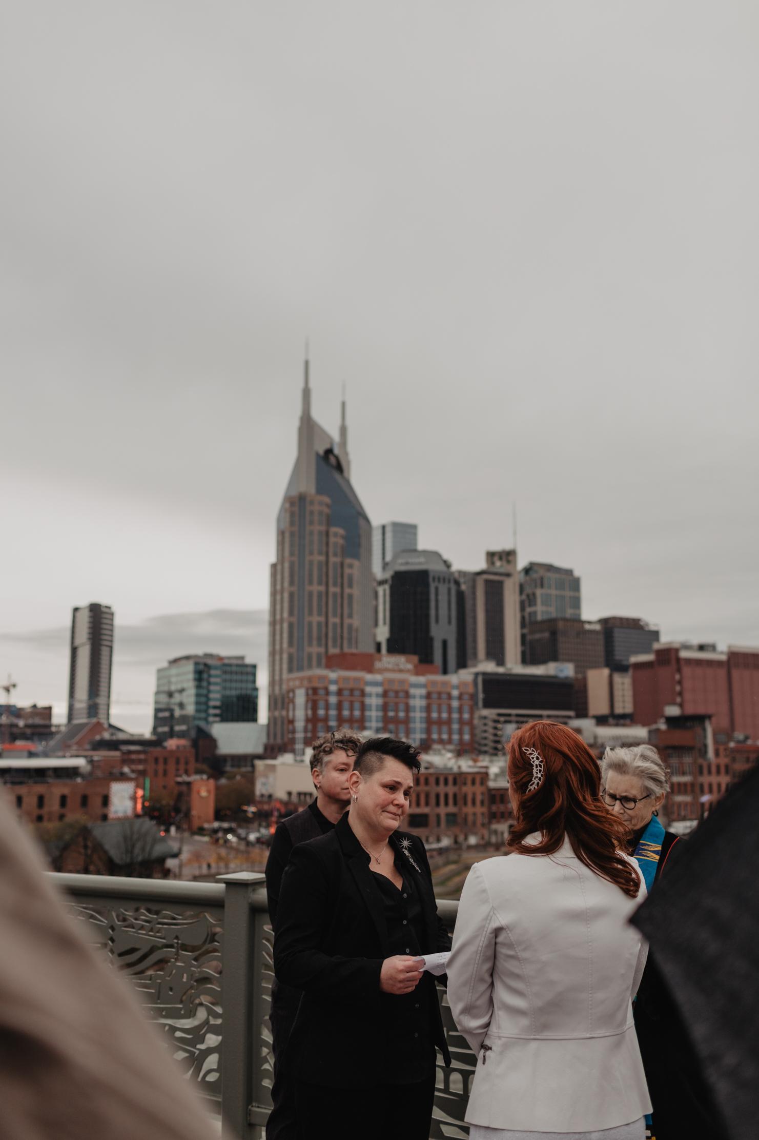 Pedestrian Bridge Elopement | LGBT Nashville Wedding Photographe