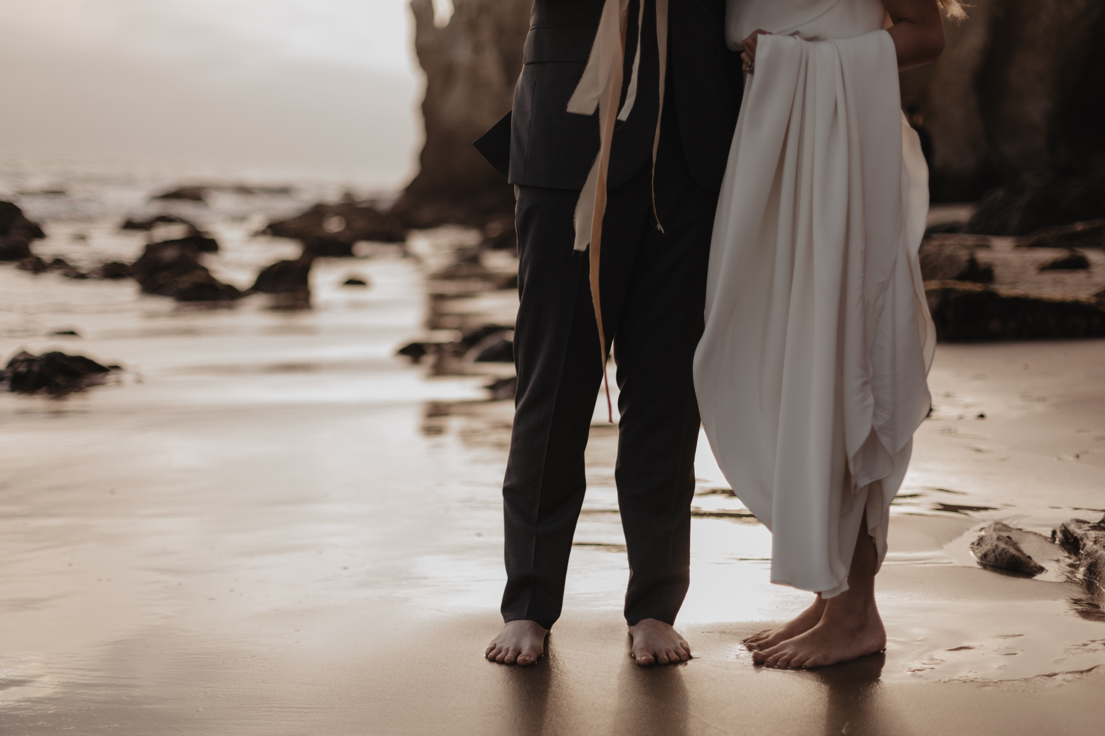 El Matador State Beach Malibu Elopement | Adventure Wedding Phot