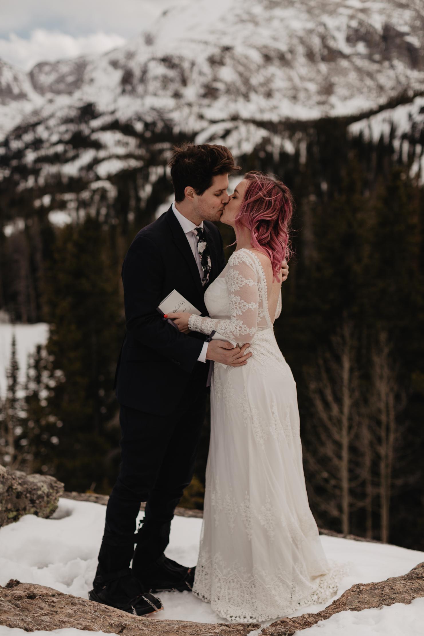Rocky Mountains Colorado Elopement | Adventure Wedding Photograp