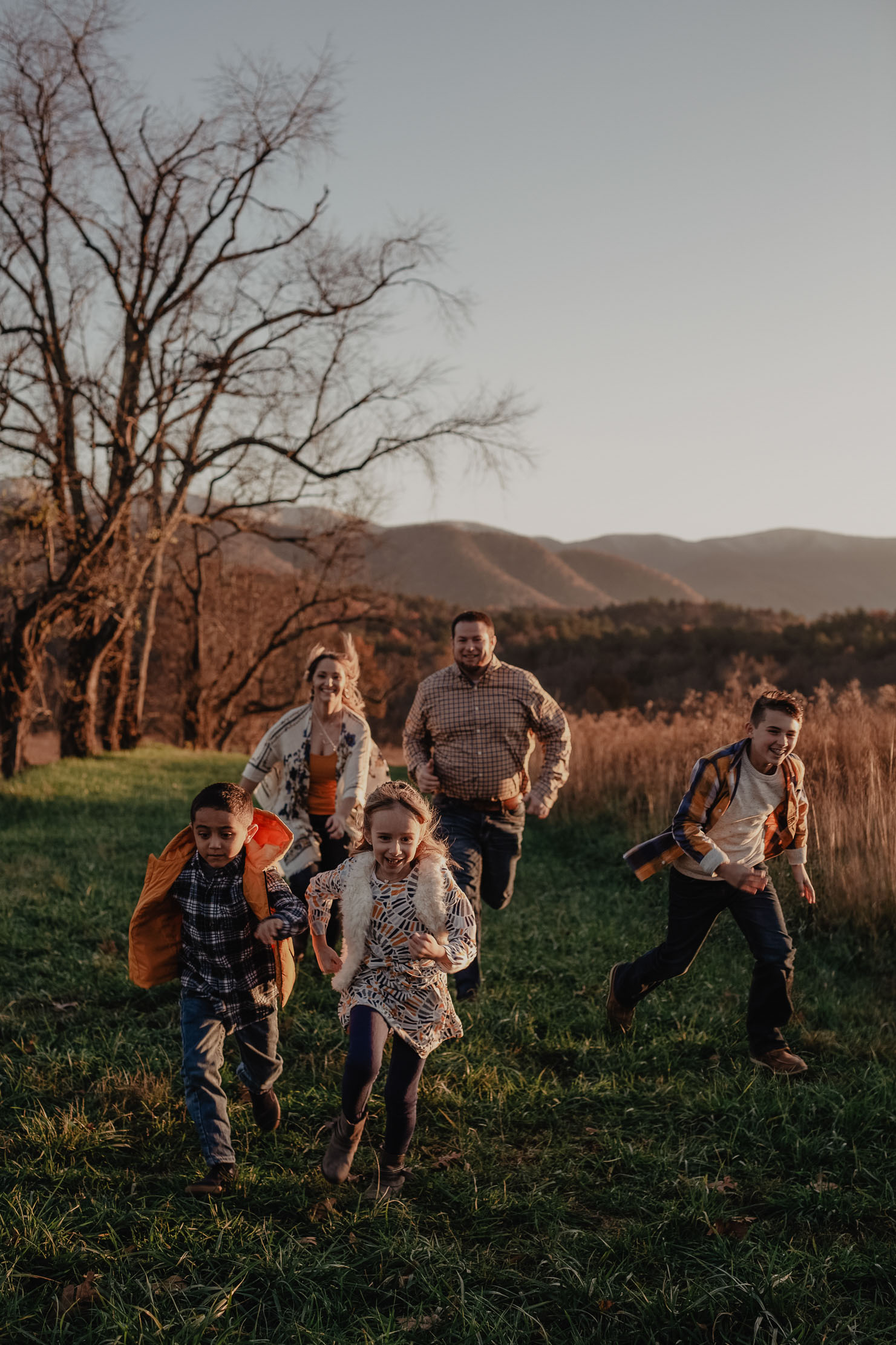 Fall Family Portraits in Cades Cove | Smoky Mountains Photograph