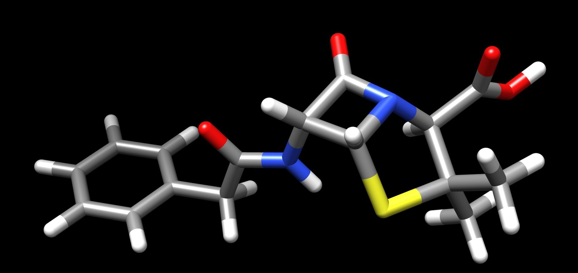 "Structure of penicillin G, ""A diabolical concatenation of reactive functional groups."" - R. B. Woodward"