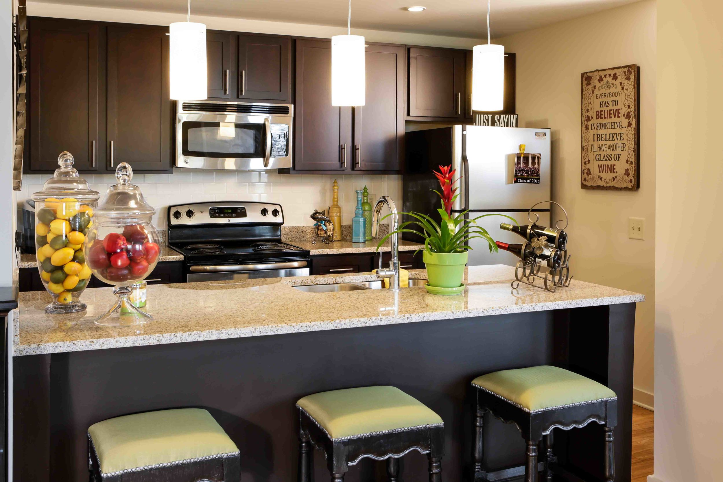 Beautiful Kitchens in our Macon Lofts