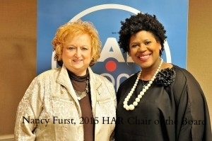 Chairidee Smith and Nancy Furst, 2015 Chair of Board for Houston Association of Realtors