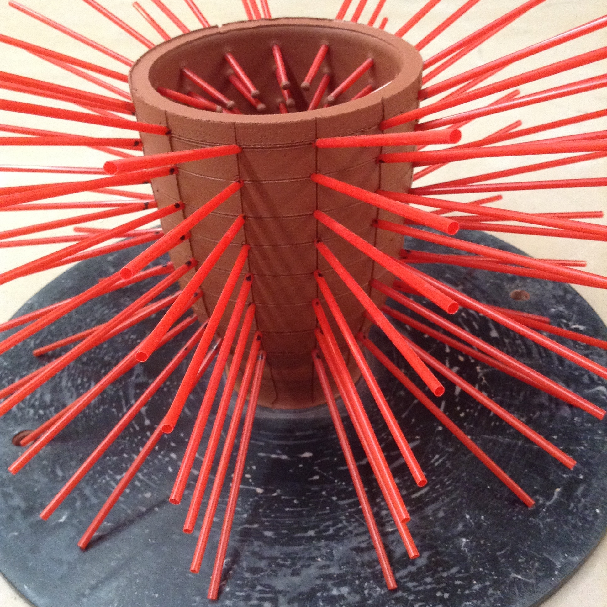 cone straw install process.JPG