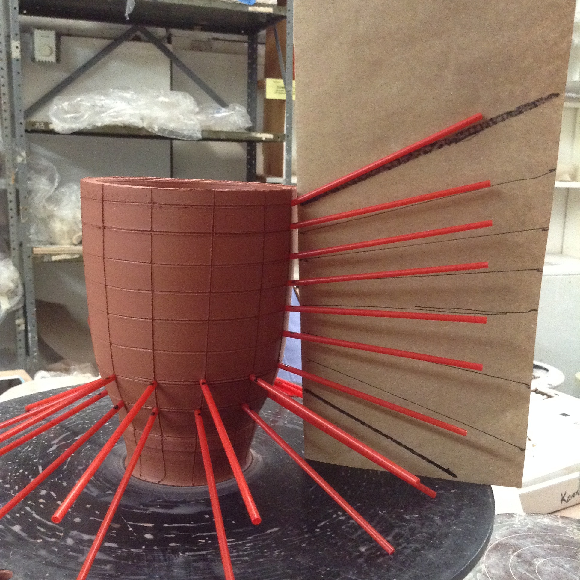cone straw install process detail paper.JPG
