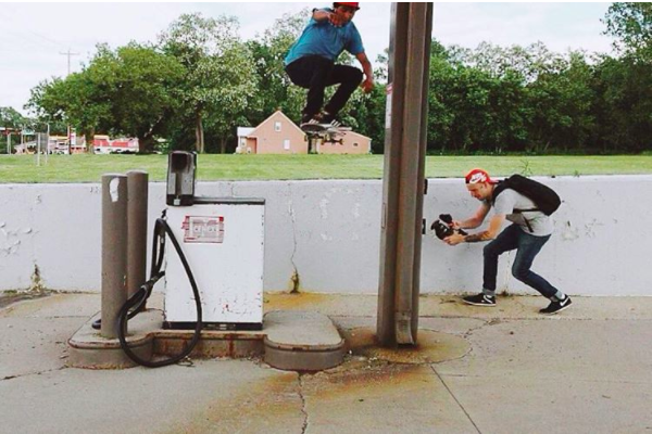 Tony threads the needle during a summer Green Bay filming mission. Ollie. Steve Latimer