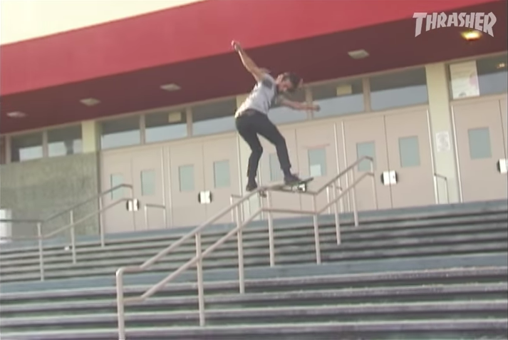 Dave Engerer pushes a mean Front Board through a kinky rail.