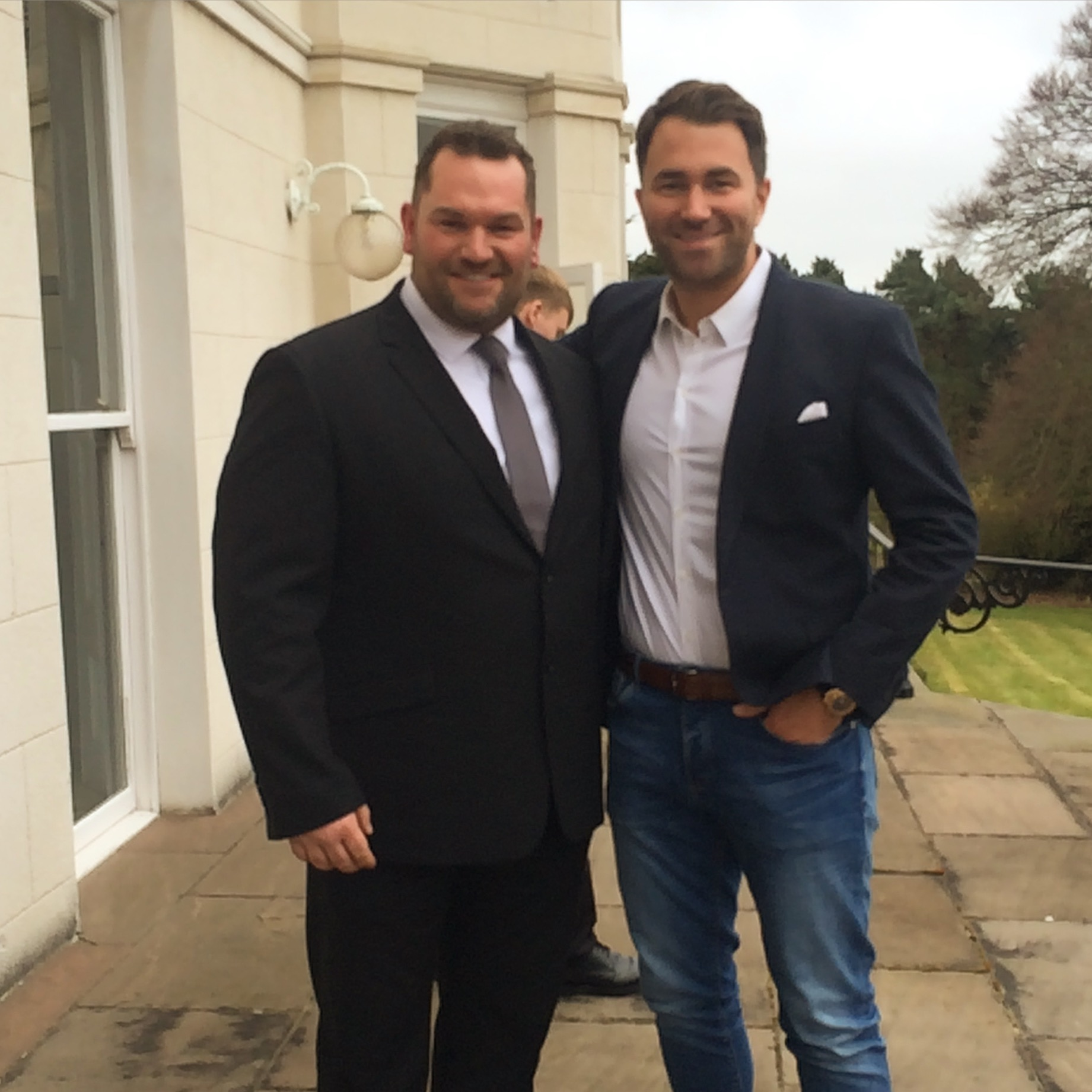 Marc with Eddie Hearn of Matchroom Boxing
