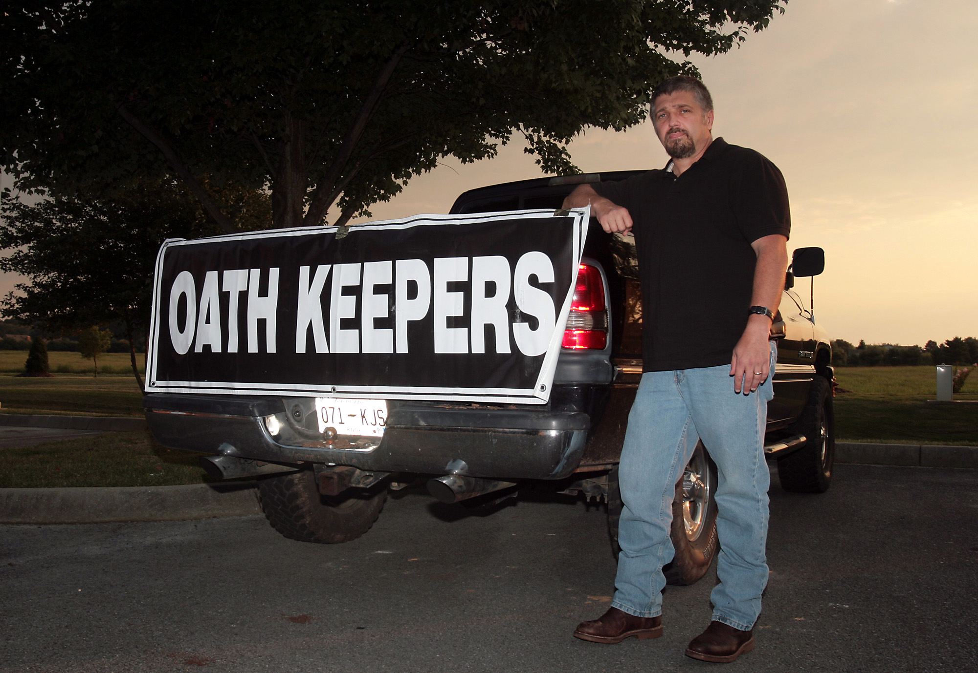 KNOXVILLE, TN - AUGUST 25, 2009:  Rand Cardwell, the Tennessee director of the Oath Keepers, is shown before their monthly meeting August 25, 2009 in Knoxville. The Oath Keepers is a newly formed group of military, police and fire fighters who continue to uphold their sworn oath and defend the constitution. (Photography by Chad Greene)