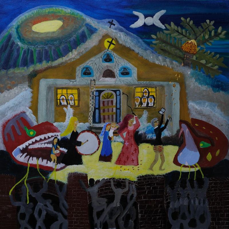Salvataggio di Maria e Gesus Bambino; ( Acrylic on stretched Canvas 30X30 inches ).