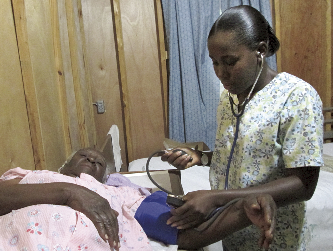 """""""Because of New Missions, I'm a nurse. I serve in the Leogane region. Thank you and may God bless you."""" Nerylne Movil, class of 2005"""