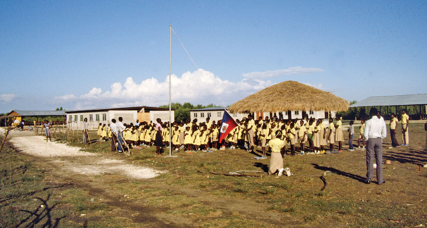 Our first church and school was built in Bord-Mer, Haiti, and served a coastal fishing community and village of Neply.