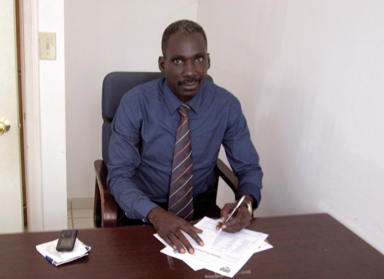Jonas Bertrand, a graduate of New Missions, now serves as the deputy major of Leogane, Haiti.