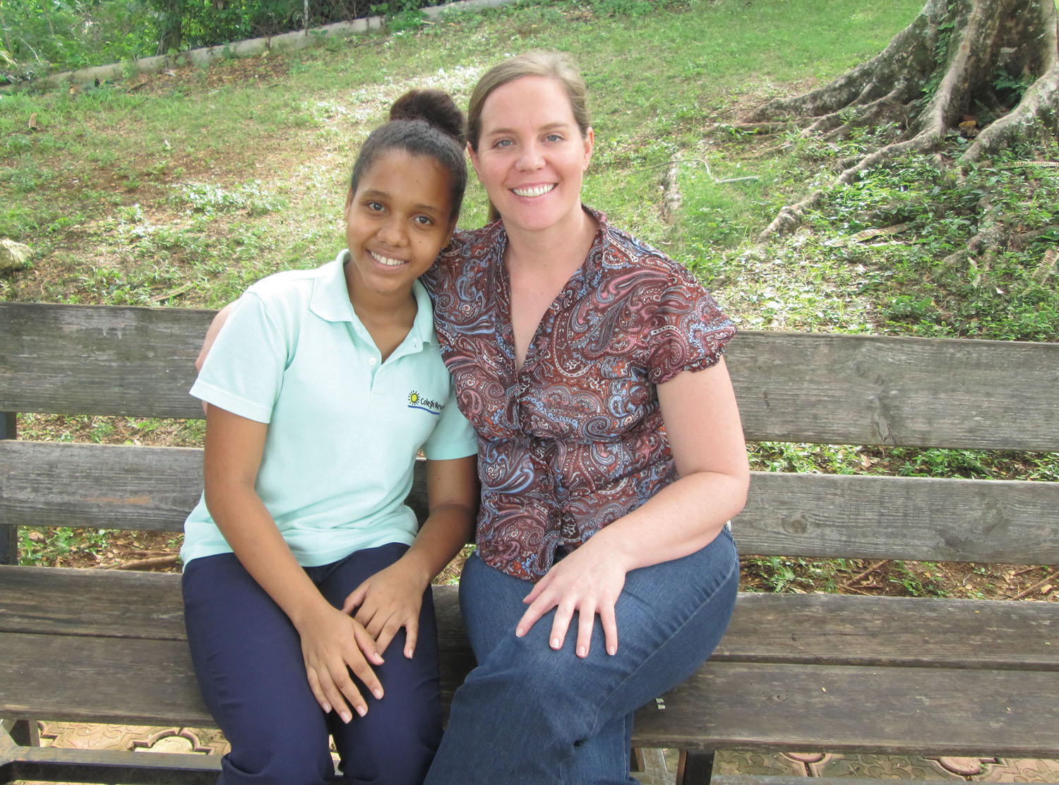 Heather Williams, our field manager in the DR, enjoyed time with Esmeralda, who is sponsored by Heather's mother.