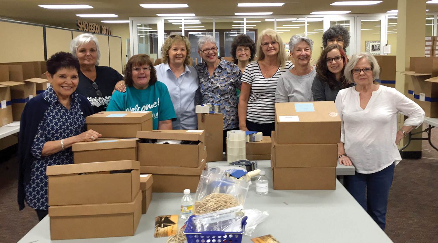 CrossLife Church in Oviedo, Florida, sent volunteers to serve during our Christmas Shoebox Drive.