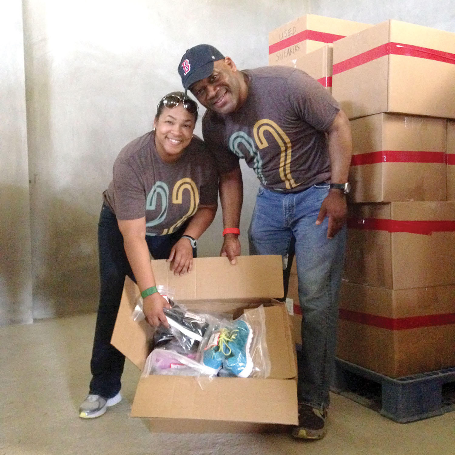 Dr. Timothy Sloan and his wife, Dr. Sonya Sloan, from The Luke church in Humble, TX, visited our warehouse in Haiti.