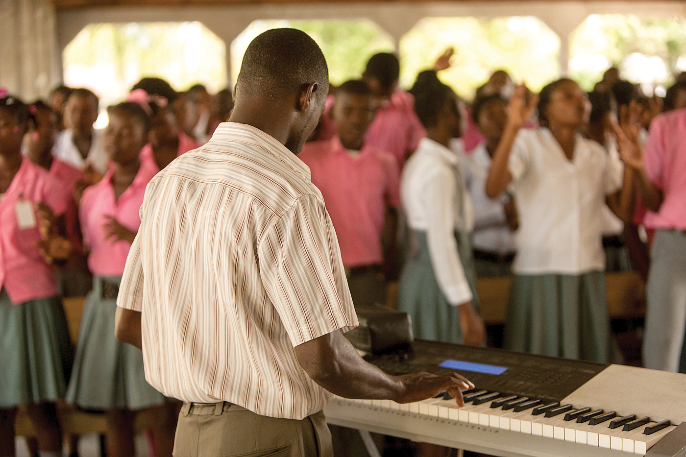 Each of our schools host weekly chapel services where students celebrate their love for God.