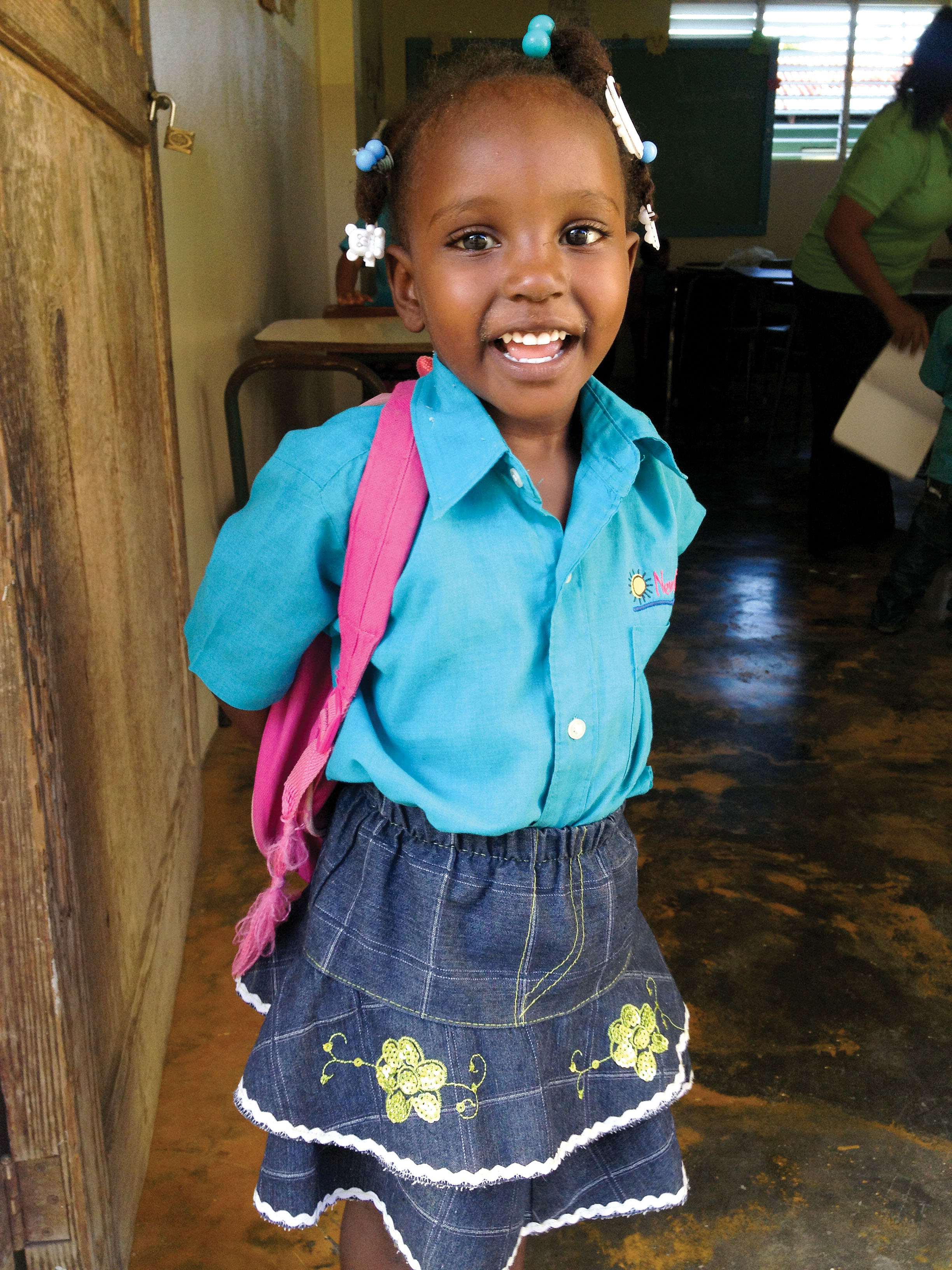 Chalina Dolcine knows Jesus loves her, and a new school will be built for her future growth in Los Castillos.