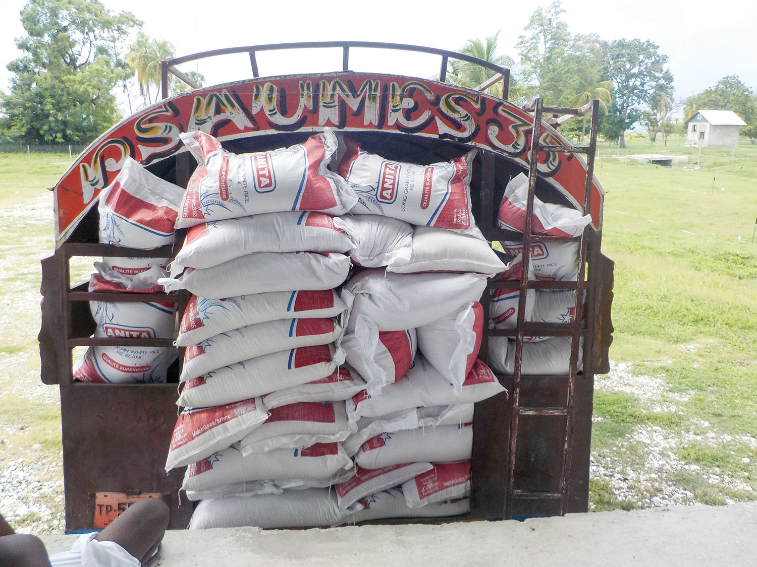 A monthly supply of food (including dried fish, tomato paste, garlic, salt, and oil) is sent by truck to each campus.