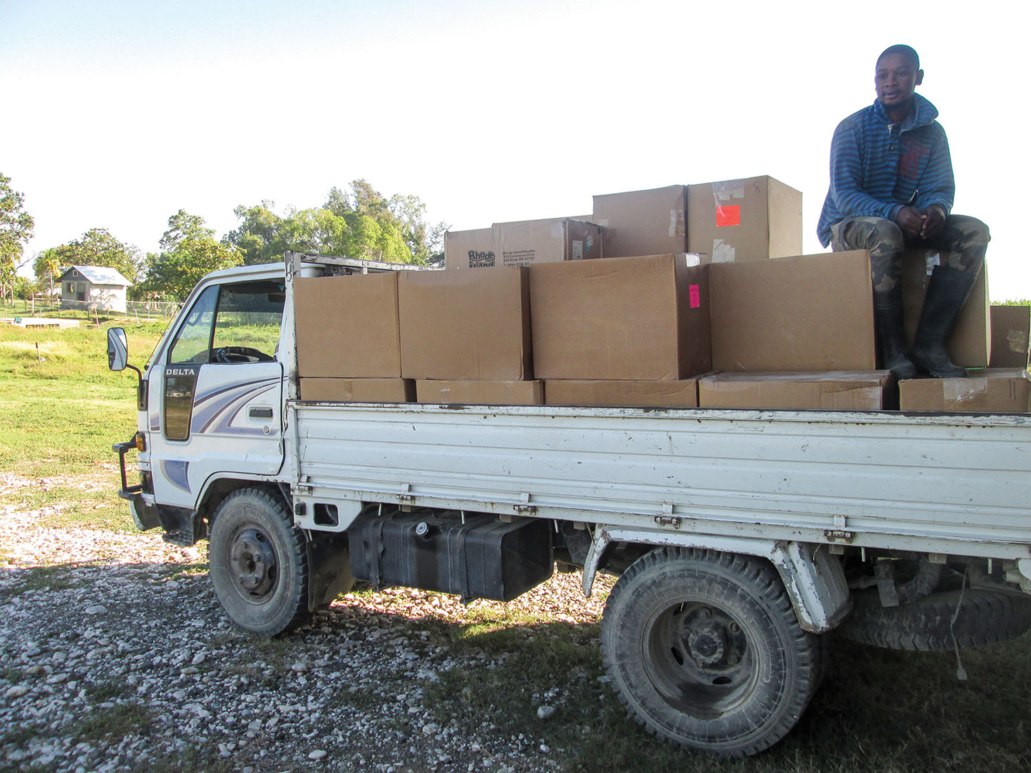 Transport trucks deliver shoebox gifts to each of our church and school campuses.