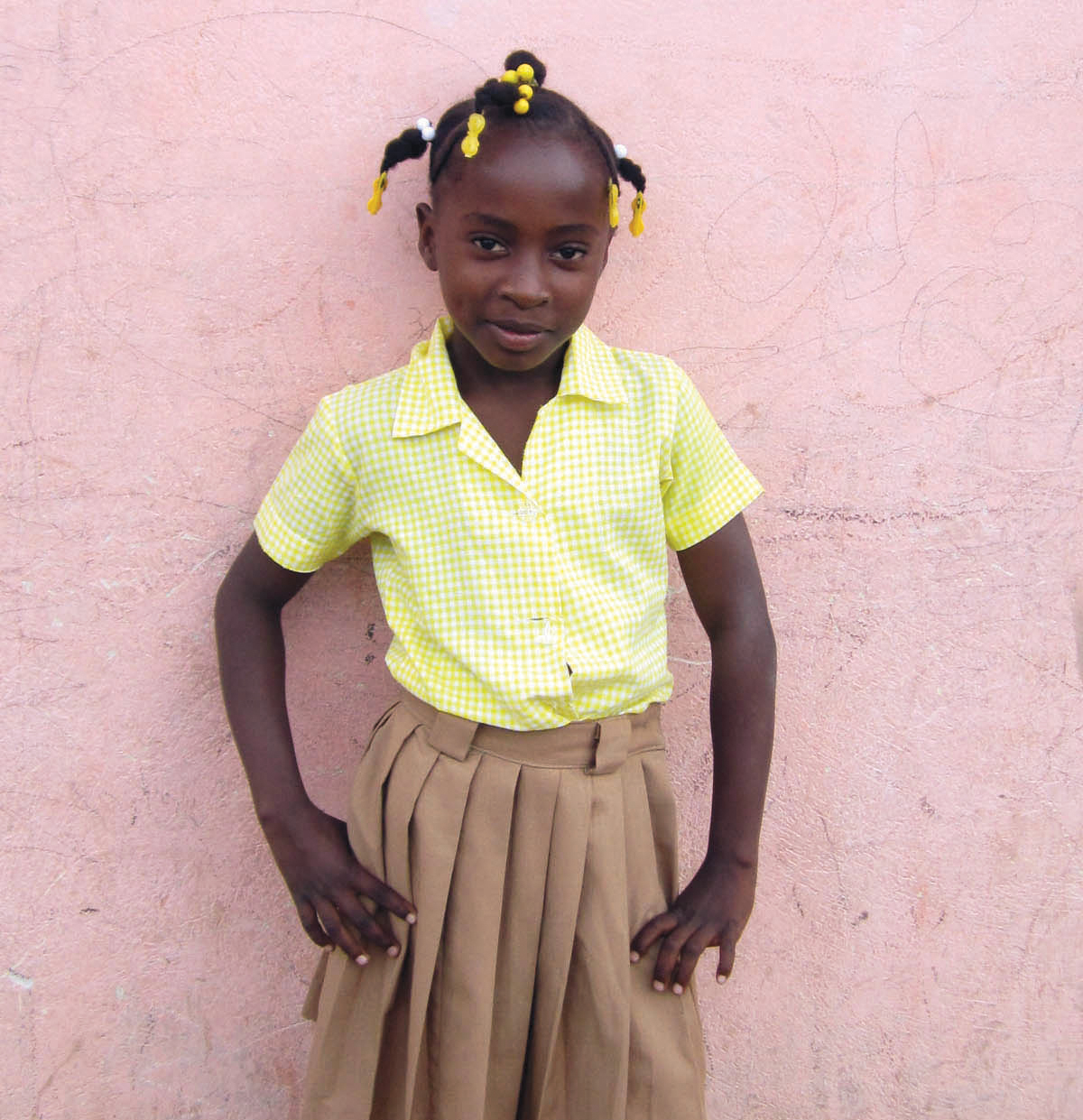 Ange Dona Desrosiers is from the same school Roland attended at New Missions, and is sponsored by him.