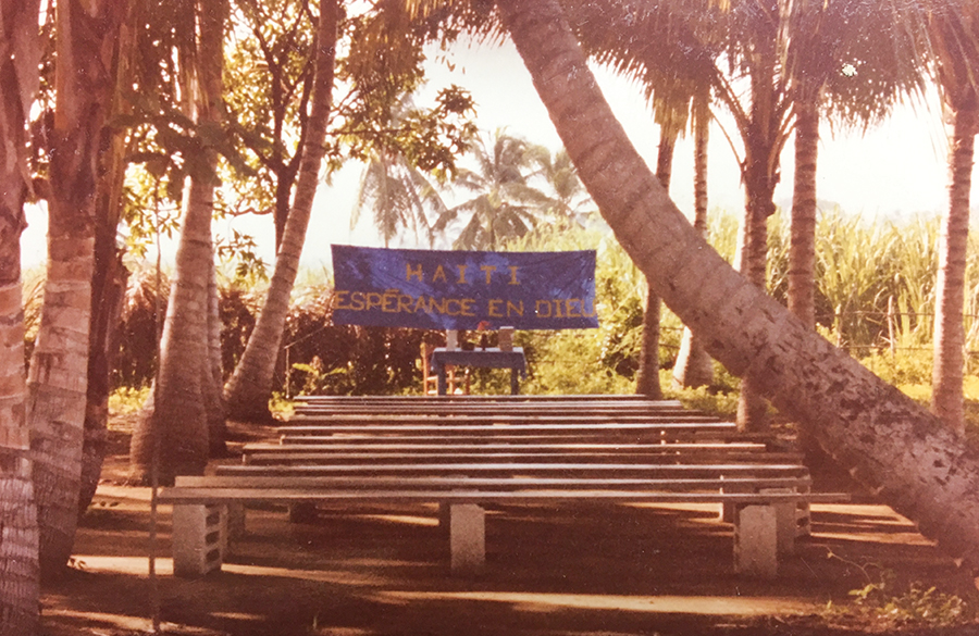 """Our mission equals a simple beginning, plus faithfulness over time. Our first church in 1983 had the banner, """"Haiti: Hope in God."""""""