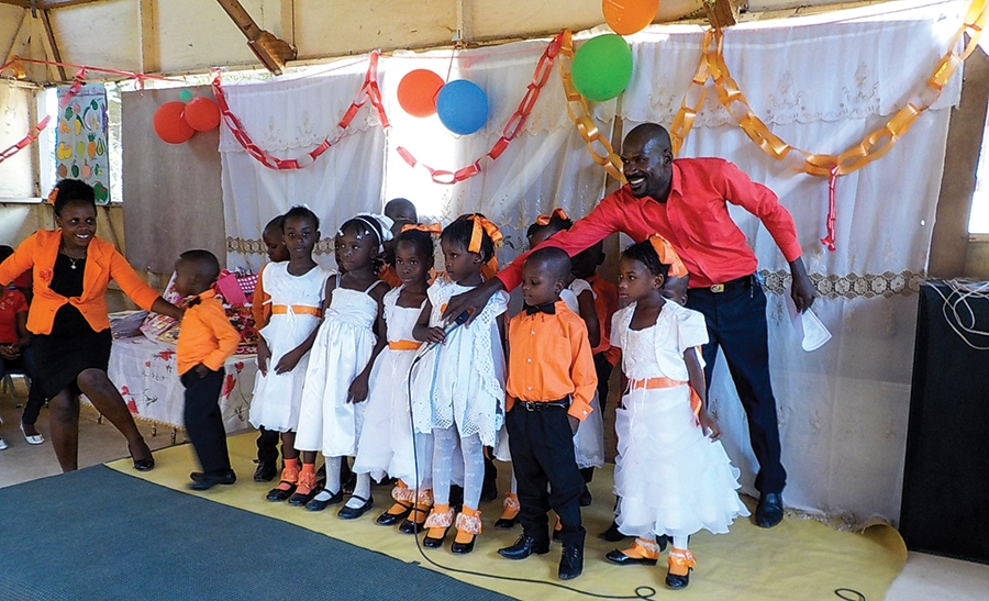 Children from Bongnotte, Haiti, are seeing a new future because of the gift of education.