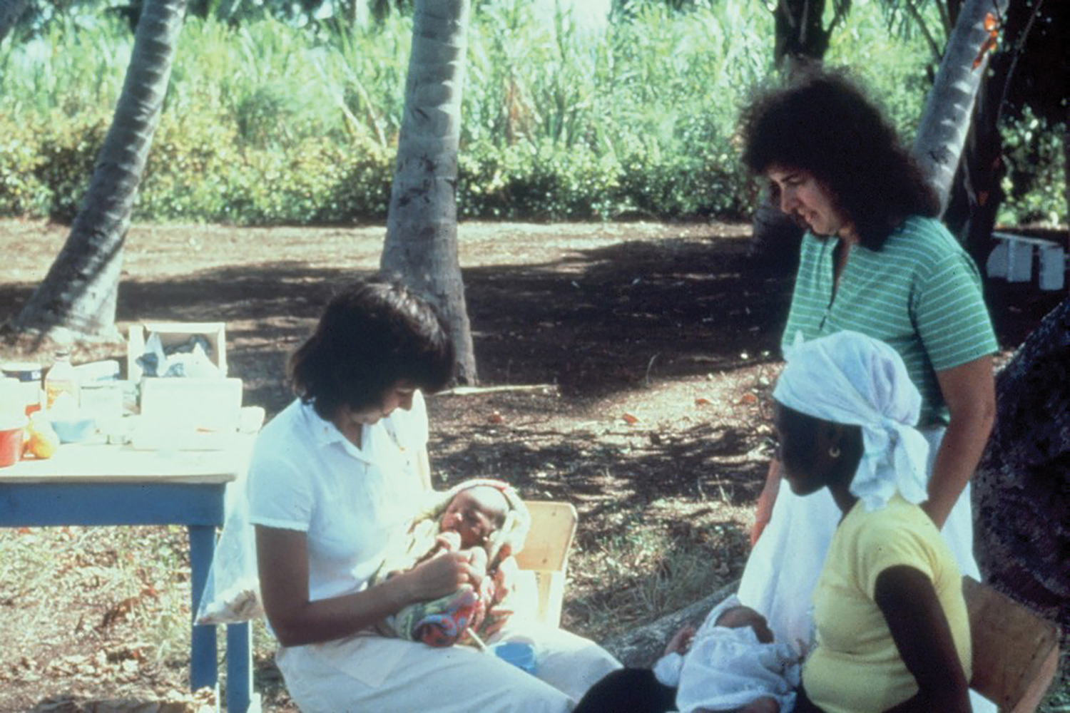 Thirty-five years ago, we began our clinic ministry outdoors on a wooden table under coconut trees.