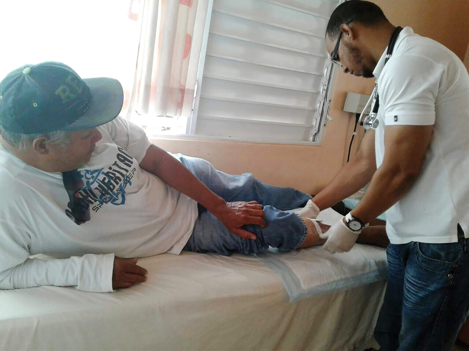 Miguel, who receives wound treatment, says our health center in the DR is his second family.